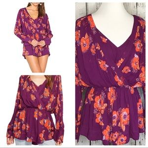 Free People Tuscan Dreams floral tunic top